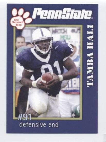 TAMBA HALI 2005 Penn State Second Mile college card PRE-ROOKIE Kansas City KC Chiefs