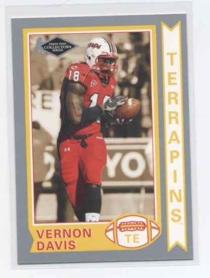 VERNON DAVIS 2006 Press Pass Silver Collectors Series #OS-9 ROOKIE Maryland SF 49ers