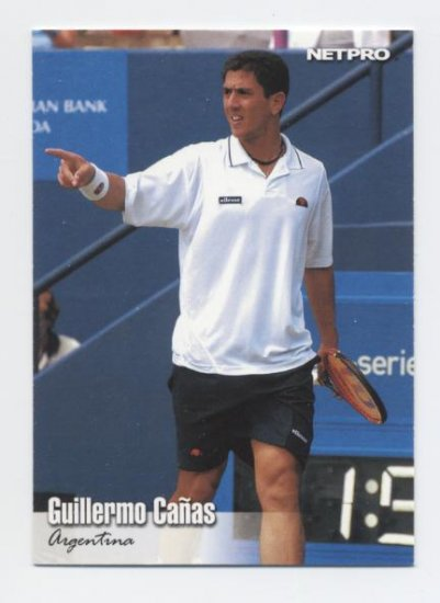 GUILLERMO CANAS 2003 NetPro #26 ROOKIE Argentina