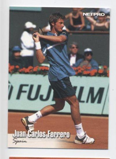 JUAN CARLOS FERRERO 2003 NetPro #30 ROOKIE Spain
