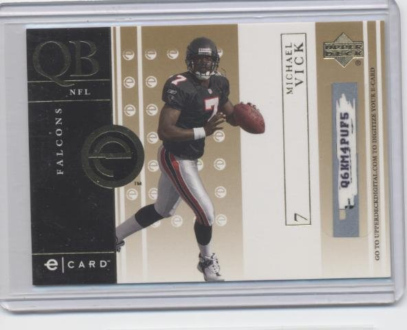 MICHAEL MIKE VICK 2001 UD e-Card ROOKIE Falcons HOKIES Scratched Eagles QB