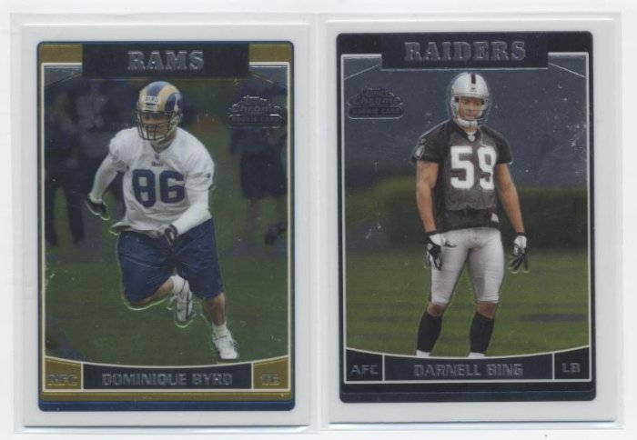 DOMINIQUE BYRD 2006 Topps Chrome ROOKIE Rams USC Trojan