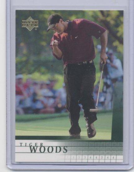 TIGER WOODS 2001 Upper Deck UD #1 ROOKIE PGA