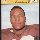 JIM JIMMY BROWN 1977 Sportcaster Japan card BROWNS