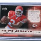 LARRY JOHNSON 2003 UD Finite JERSEY ROOKIE Penn State KC Chiefs #d/99