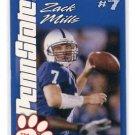 ZACK MILLS 2004 Penn State Second Mile college card QB