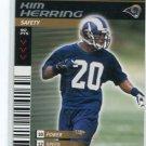 KIM HERRING 2001 NFL Showdown First & Goal #155 Penn State RAMS