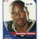 KNOWLEDGE TIMMONS 2005 Big 33 High School card PENN STATE CB