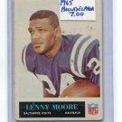LENNY MOORE 1965 Philadelphia #31 Colts PENN STATE