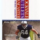 RICH OHRNBERGER 2008 Penn State Football Schedule FULL SIZE