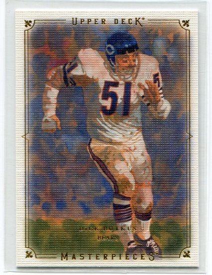 DICK BUTKIS 2008 UD Masterpieces Chicago BEARS
