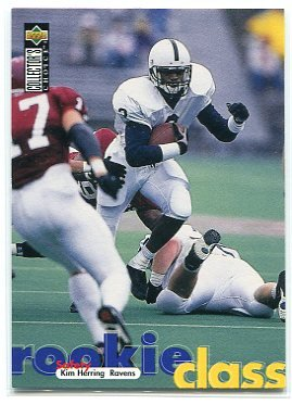 KIM HERRING 1997 UD Collector's Choice #BA10 Penn State ROOKIE