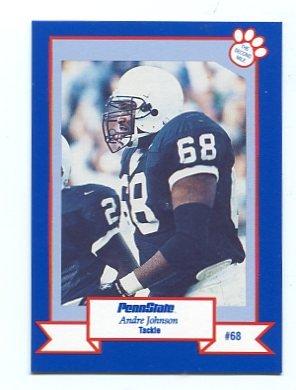 ANDRE JOHNSON 1995 Penn State College card REDSKINS OT
