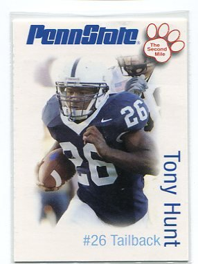 TONY HUNT 2006 Penn State Second Mile College card EAGLES