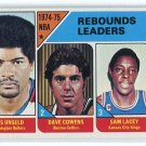 WES UNSELD / DAVE COWENS / SAM LACEY 1975-76 Topps #4