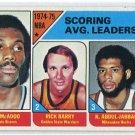 BOB McADOO / RICK BARRY / KAREEM ABDUL-JABBAR 1975-76 Topps #1