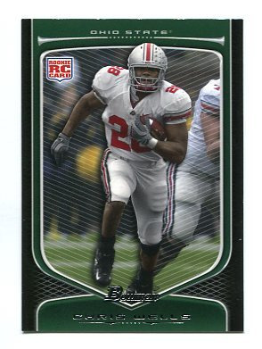 CHRIS BEANIE WELLS 2009 Bowman #121 ROOKIE Cardinals OHIO STATE BUCKEYES