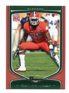 MICHAEL HAMLIN 2009 Bowman ORANGE SP #215 ROOKIE Clemson