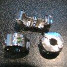 GREEN Rhinestone Silver Stopper fits Pandora & Troll T100