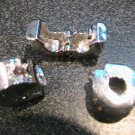 ORANGE Rhinestone Silver Stopper fits Pandora & Troll T103