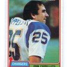 JOHN CAPPELLETTI 1981 Topps #337 Rams PENN STATE RB