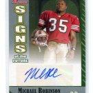 MICHAEL ROBINSON 2006 Bowman AUTO ROOKIE Penn State 49ers