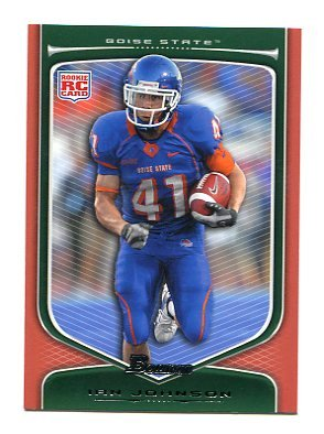 IAN JOHNSON 2009 Bowman ORANGE SP #203 ROOKIE Boise State