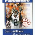 DERRICK WILLIAMS 2008 Penn State Second Mile College card DETROIT LIONS