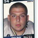 CHRIS NEILD 2006 Big 33 High School card WEST VIRGINIA Mountaineers WASHINGTON Redskins