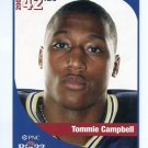 TOMMIE CAMPBELL 2005 Big 33 Pennsylvania High School card PITT PANTHERS