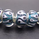 Murano Glass Bead 925 Silver fits Pandora & Troll S282 Turquoise