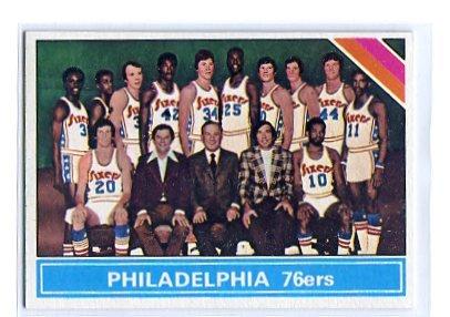 PHILADELPHIA 76ers 1975 Topps Team Card  #216