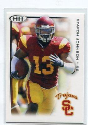 STAFON JOHNSON 2010 Sage Hit #13 ROOKIE USC Trojans TITANS RB