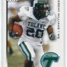 JEREMY WILLIAMS 2010 Sage Hit #20 ROOKIE Tulane WR