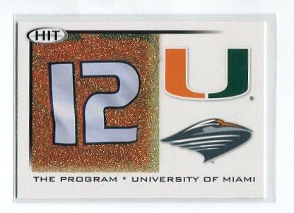 JACORY HARRIS 2010 Sage Hit GOLD SP #41 THE PROGRAM * Miami Hurricanes CANES QB