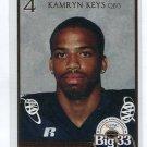 KAMRYN KEYS 2007 Big 33 Pennsylvania High School card QB