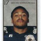 DEVAN JOHNSON 2007 Big 33 Pennsylvania High School card COLORADO RB