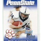 MATT HAHN 2007 Penn State Second Mile College card FB