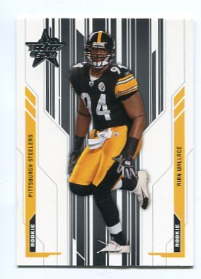 RIAN WALLACE 2005 Leaf Rookies & Stars #170 ROOKIE Steelers TEMPLE
