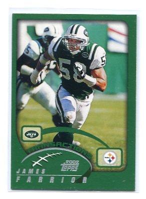 JAMES FARRIOR 2002 Topps #206 Steelers VIRGINIA Cavaliers