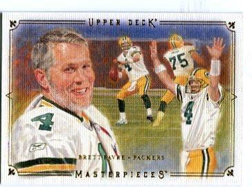 BRETT FAVRE 2008 Upper Deck UD Masterpieces #8 GB PACKERS Vikings QB