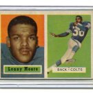 LENNY MOORE 1957 Topps #128 Colts PENN STATE HOF