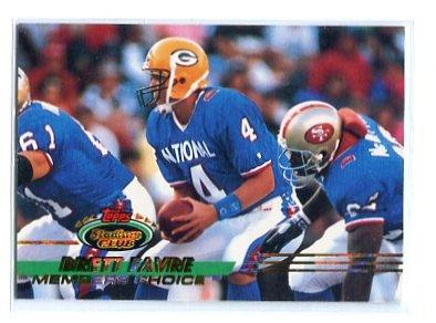 BRETT FAVRE 1993 Topps Stadium Clue Member's Choice PARALLEL #498 VIKINGS Packers QB