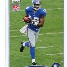 HAKEEM NICKS 2009 Topps ROOKIE #335 New York NY Giants NORTH CAROLINA Tarheels