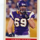 JARED ALLEN 2009 Upper Deck UD Philadelphia #110 KC CHIEFS Minnesota Vikings