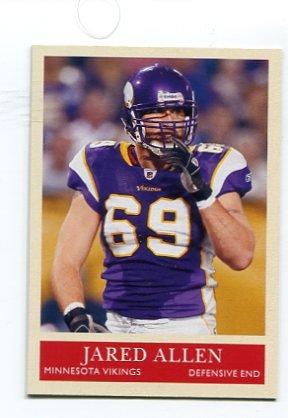 JARED ALLEN 2009 Upper Deck UD Philadelphia #110 KC CHIEFS Minnesota Vikings