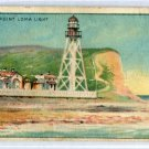 POINT LOMA LIGHT 1911 Lighthouse Series T77 Tobacco Card