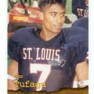 WES TUFAGA 1996 Roox High School #87 Hawaii SAINT St. LOUIS HIGH