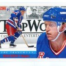 BRIAN LEETCH 1991 Score The Franchise #363 New York NY Rangers