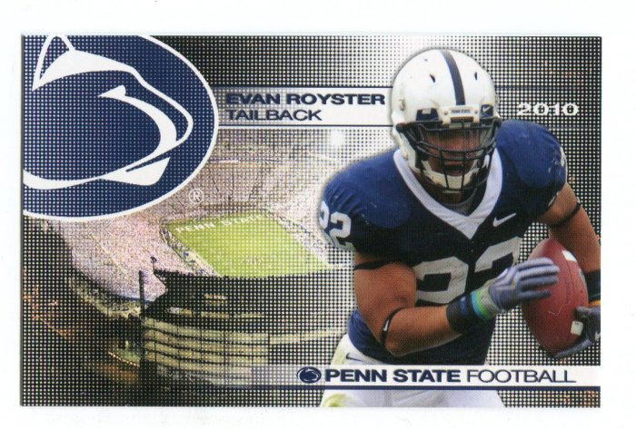EVAN ROYSTER 2010 Penn State Football Schedule MINI Washington Redskins